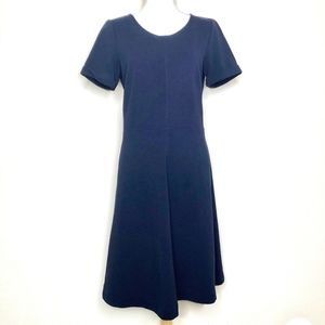 J. Crew Factory Fit & Flare Dress Navy